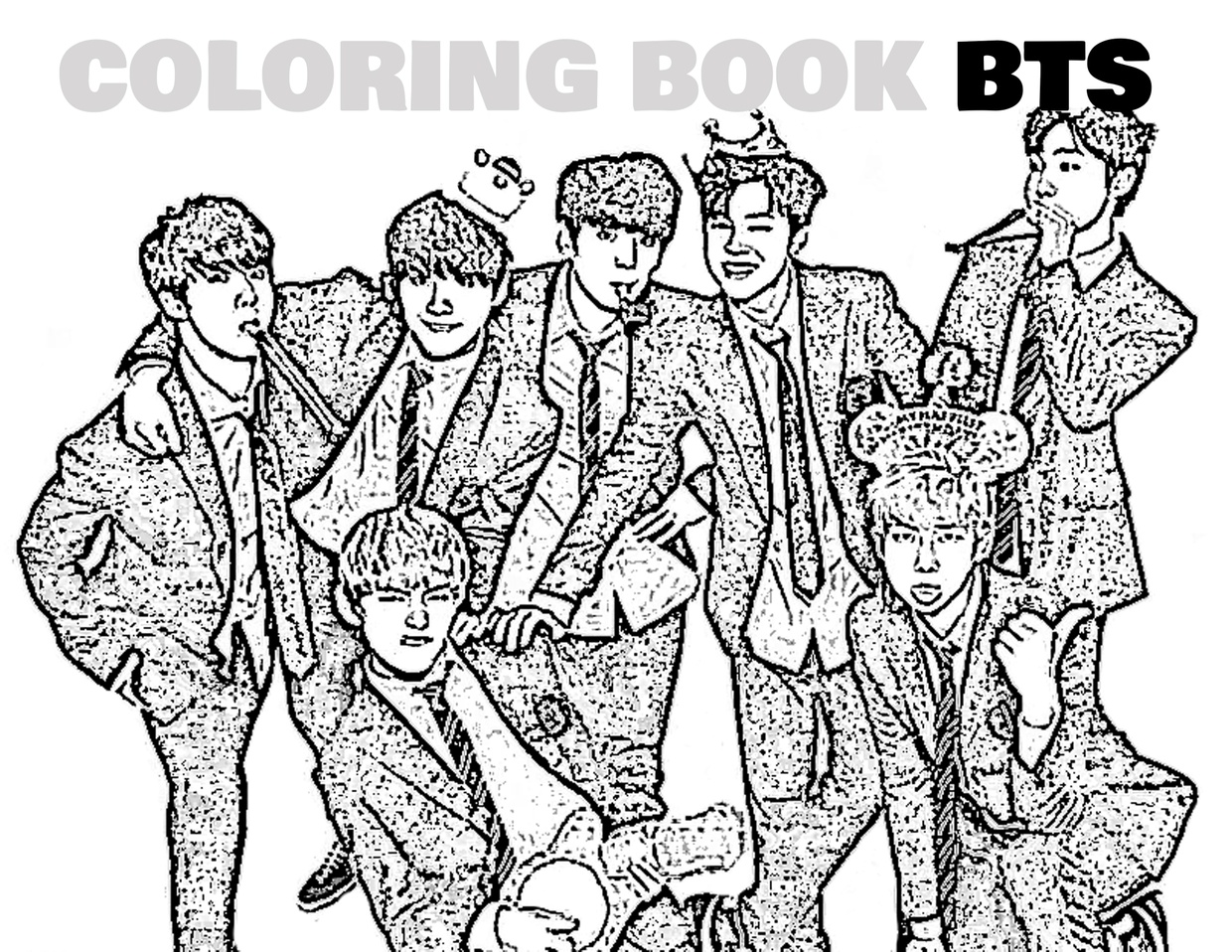 Coloring Book Kpop BTS | Kpoplicious - Sellfy.com