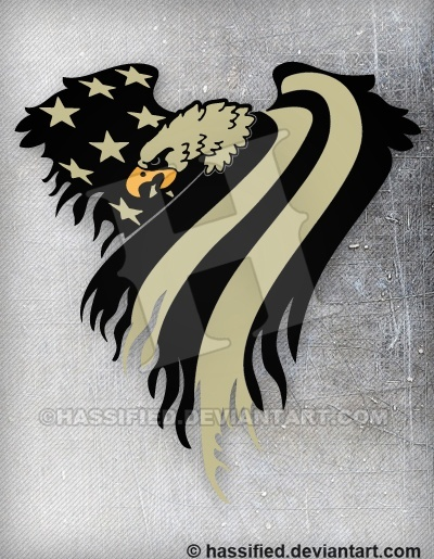 Covert American Eagle Flag