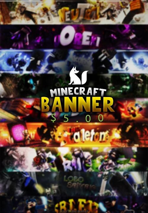 Banner Minecraft YT  [CERRADO POR COMISIONES]