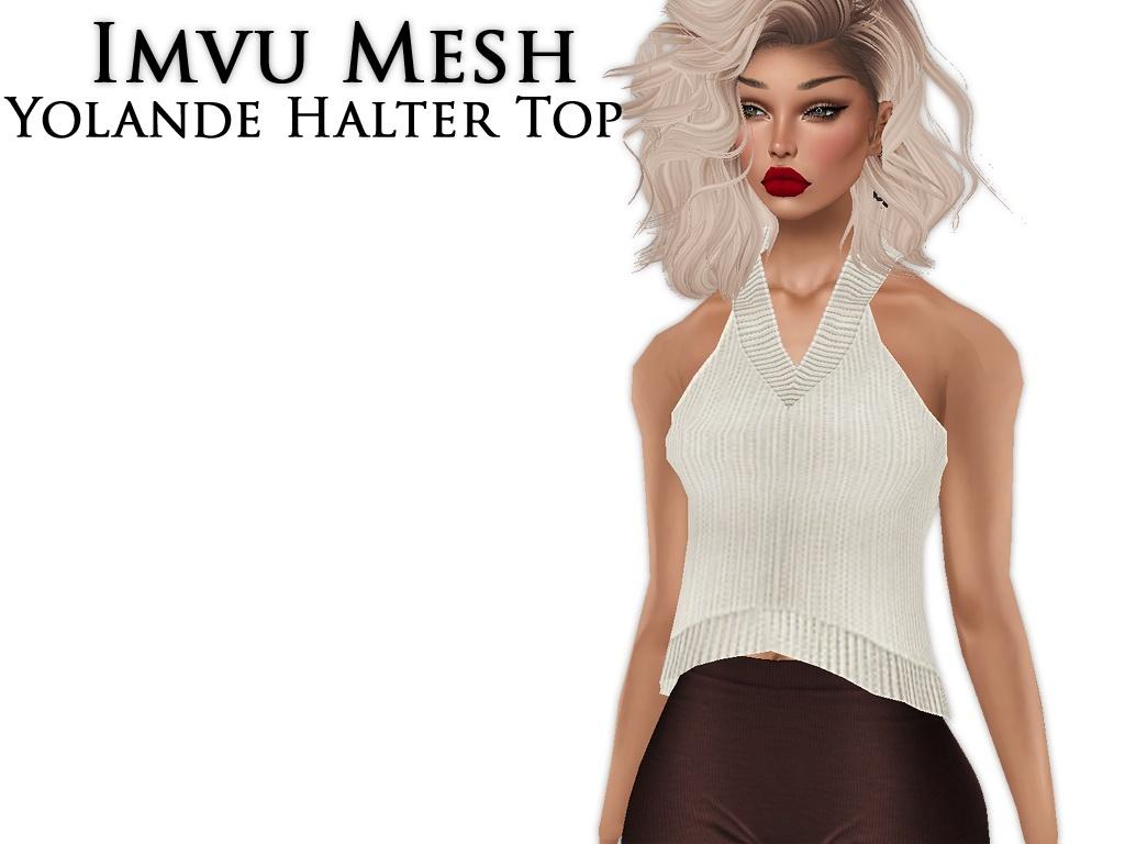IMVU Mesh - Tops - Yolande Halter Top