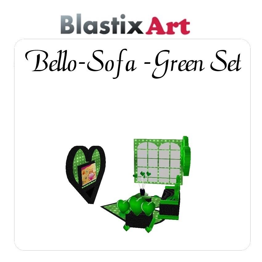 Bello sofa set green