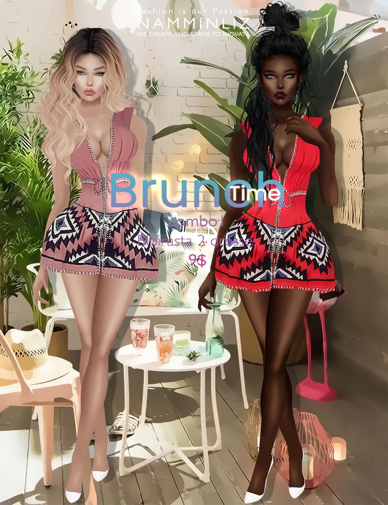 Brunch time combo1 ( imvu Bibirasta 2 dresses ) all sizes
