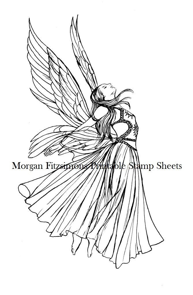 """Angel Wings"" PRINTABLE STAMP SHEET"