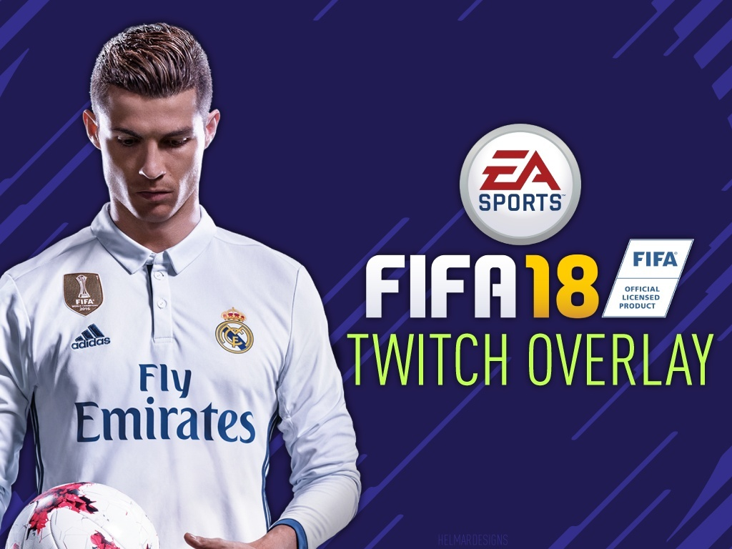 FIFA 18 Customisable Twitch Overlay (Adobe Illustrator)
