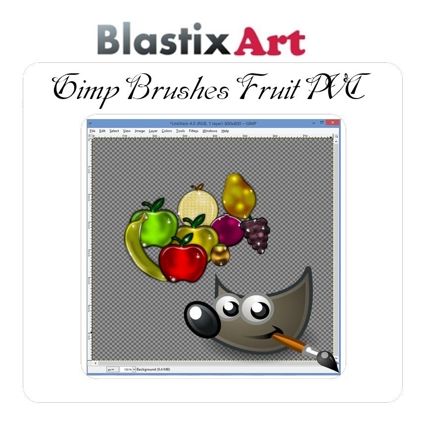 Gimp PVC Fruit Brushes