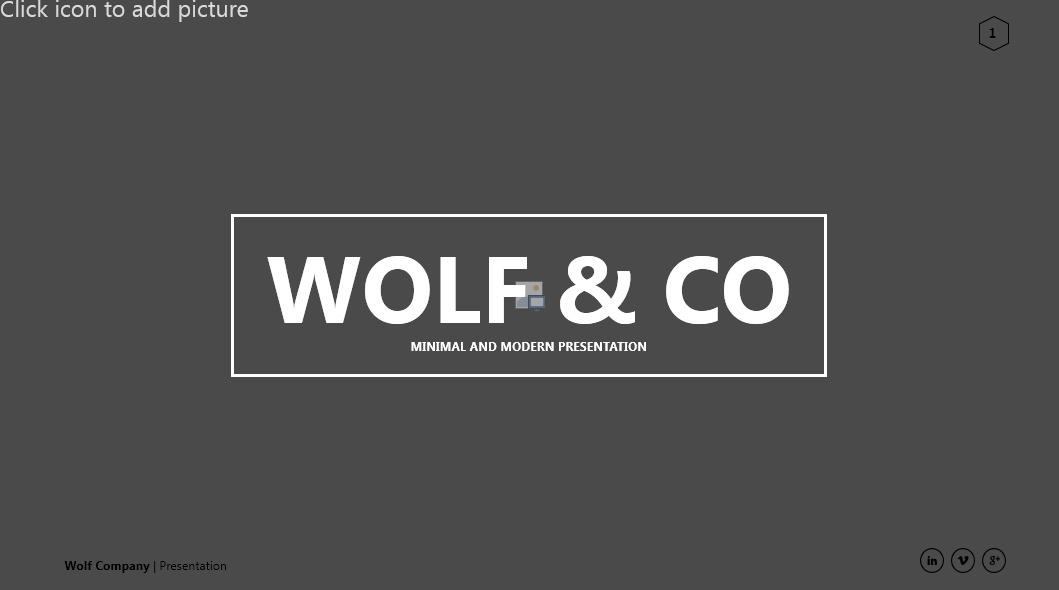 Wolf Minimal PowerPoint Presentation