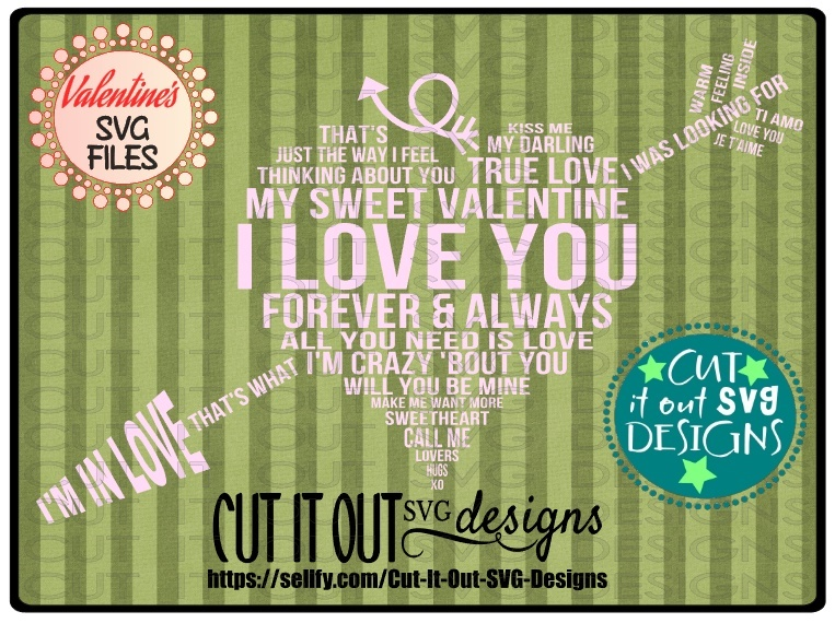 Valentine Subway Heart SVG Cutting File for vinyl, T-shirts, wood signs , coffee mugs, Pillows
