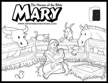 The Heroes Of The Bible Coloring Pages Mary