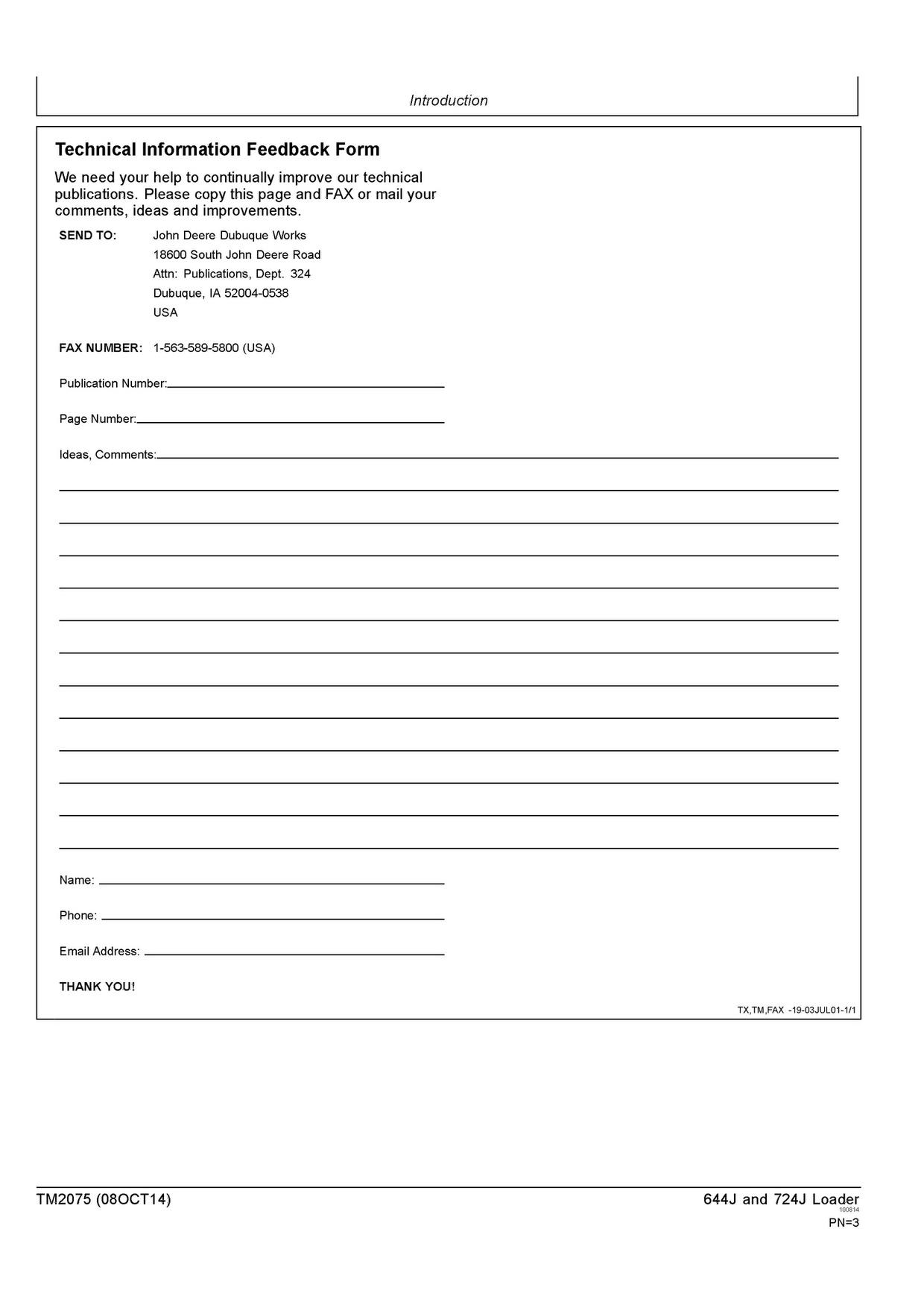 PDF DOWNLOAD JOHN DEERE 644J 724J WHEEL LOADER OPERATION AND TEST TECHNICAL MANUAL TM2075