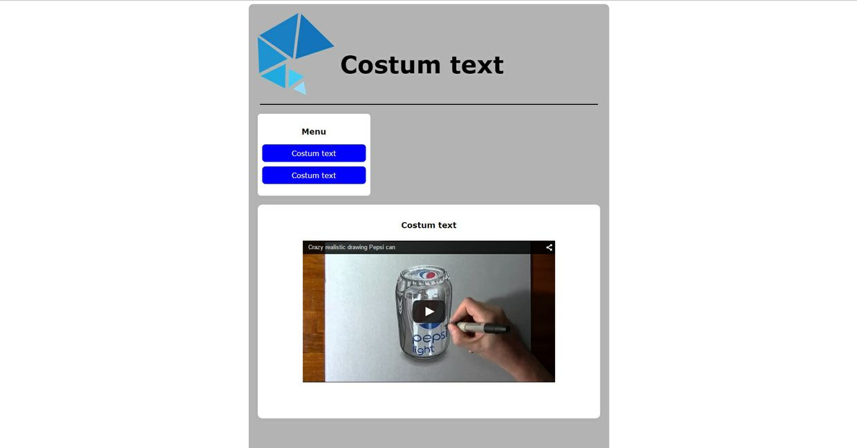 Very simple site template