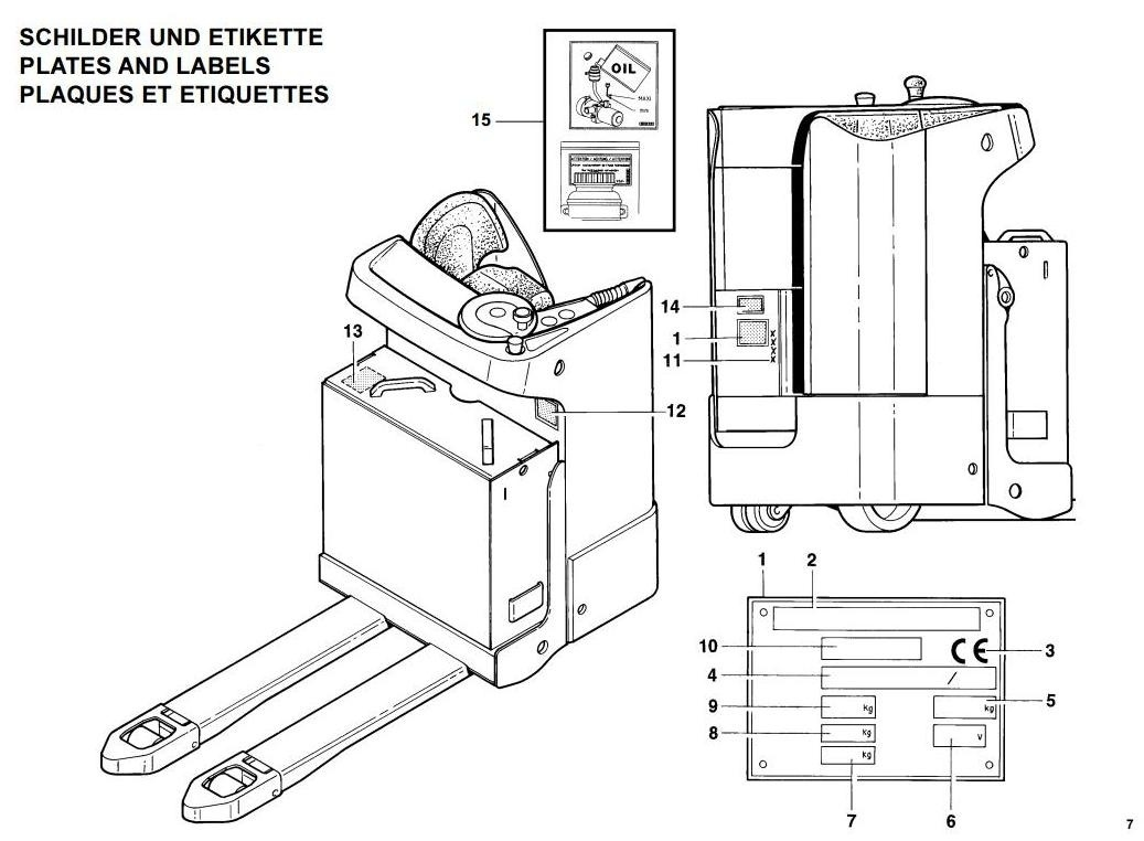 Linde Pallet Truck Type 144: T20S before N 01093 Operating Instructions (User Manual)