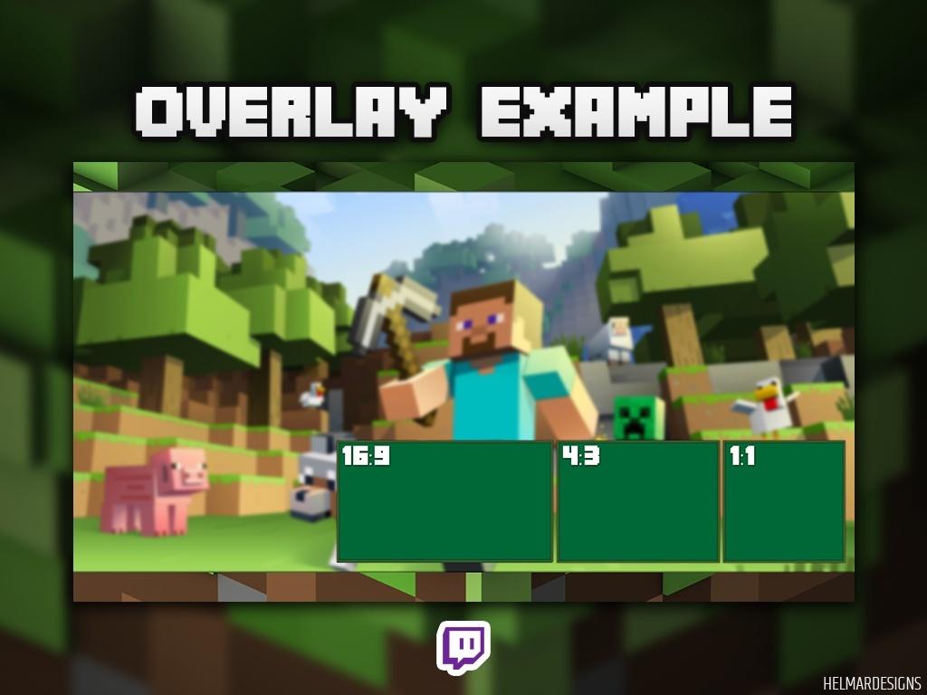 Minecraft Twitch Overlay (Plain)