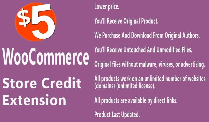 WooCommerce Store Credit Extension