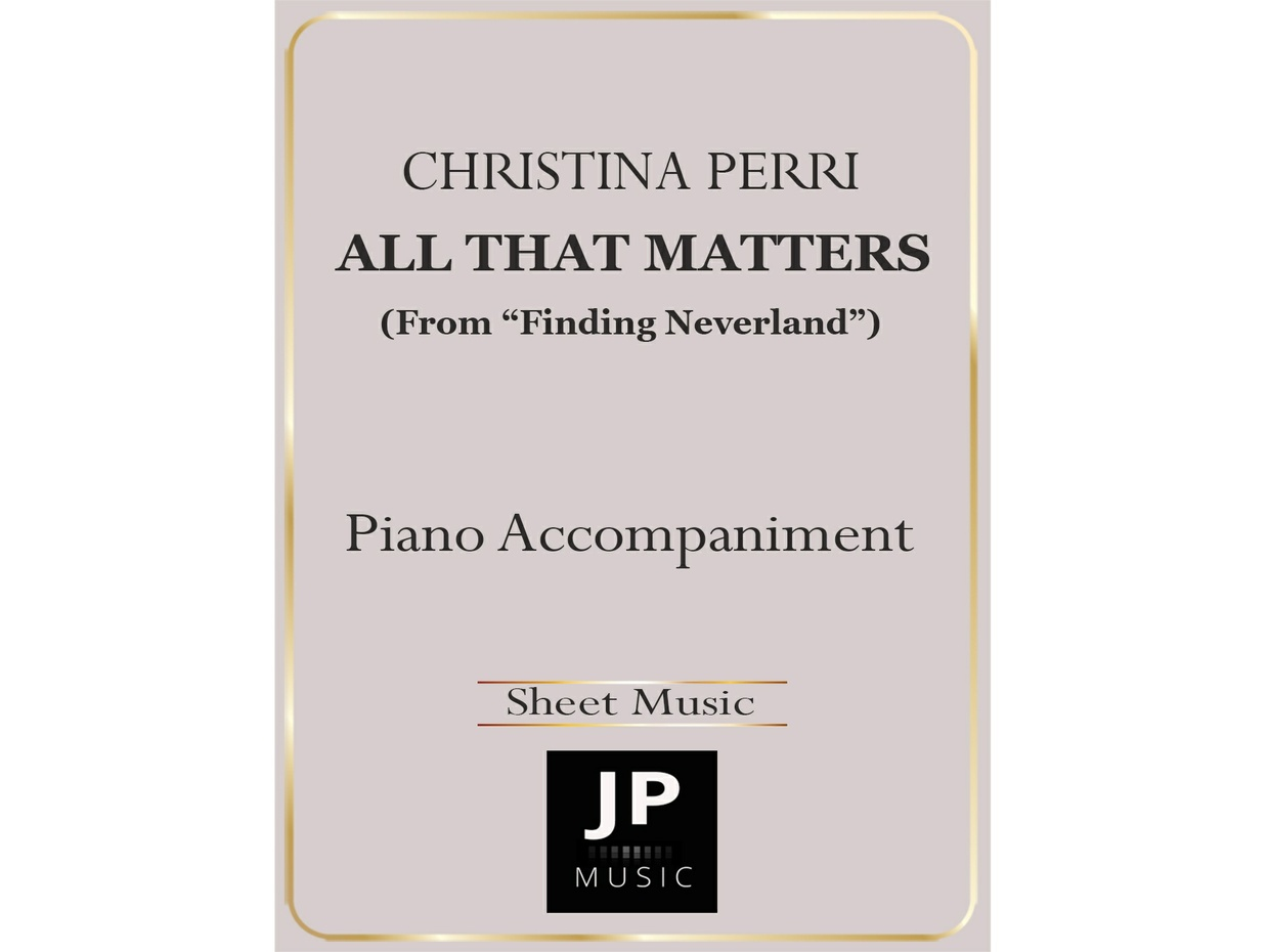 All That Matters - Piano Accompaniment