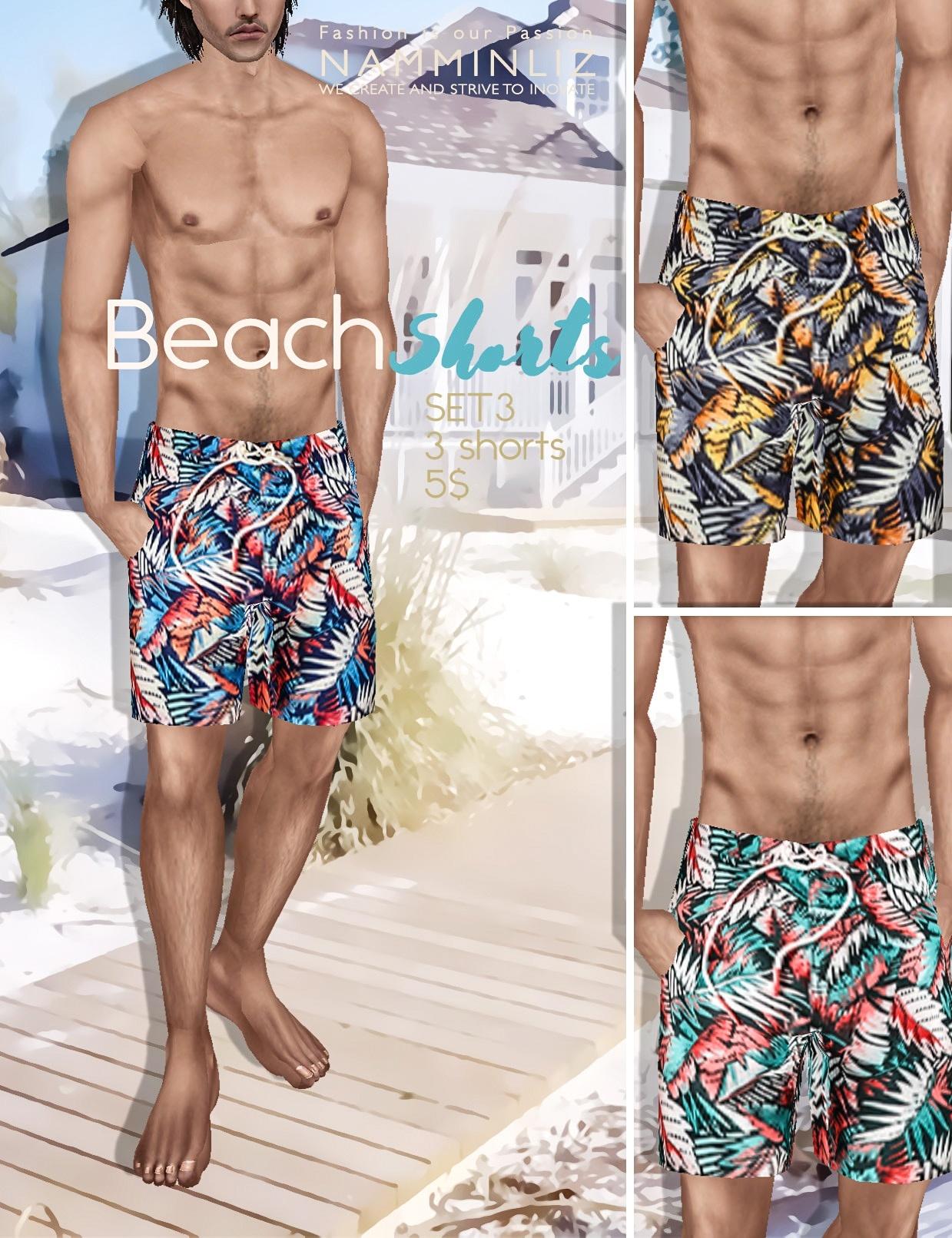 BEACH SHORTS SET 3 imvu PNG