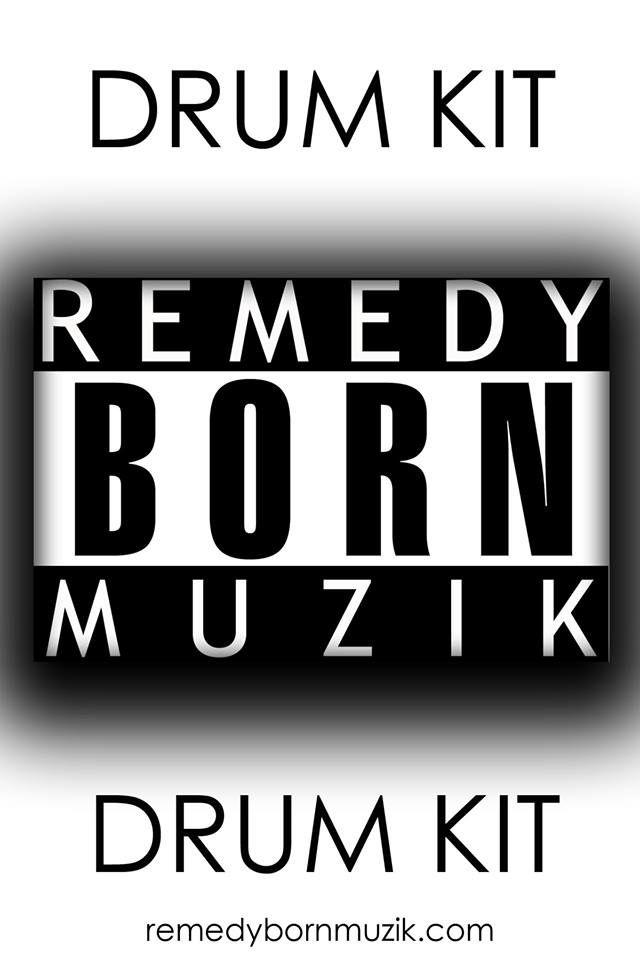 RemedyBornMuzik Beginners Drum Kit - kicks, snares, hi hats, cymbals, efx etc.