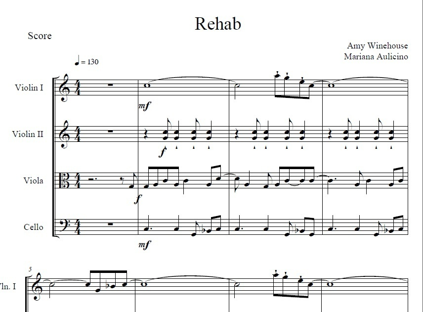 Rehab - Amy Winehouse - String quartet