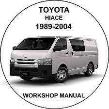 Toyota Hiace 1989-2004  Workshop Service Repair Manual
