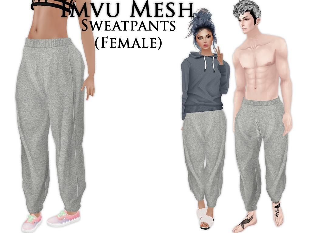 IMVU Mesh - Bottoms - Sweatpants (female)