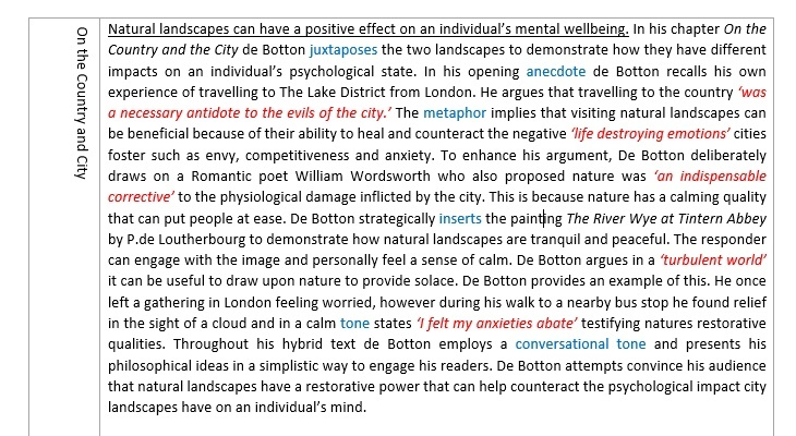 English Advanced Module C Study Notes (The Art of Travel)