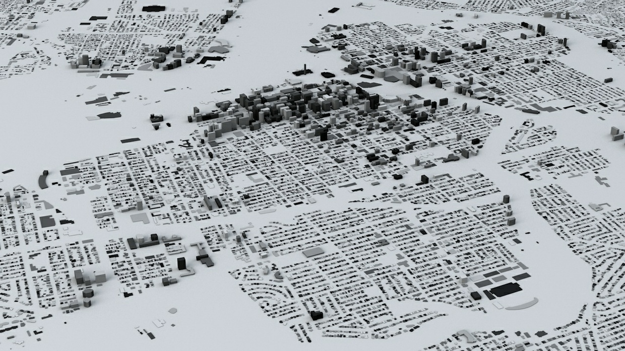 Ottawa Streets and Buildings Architectural 3D Model