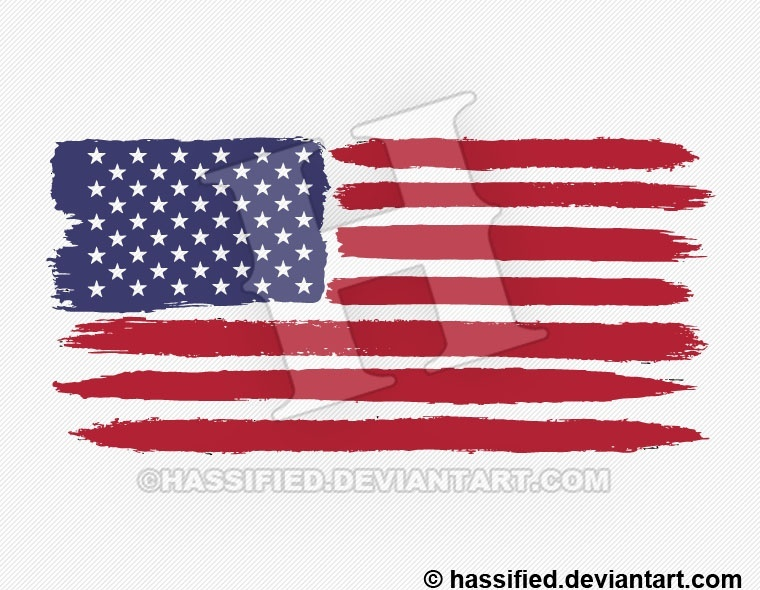 Brushed American Flag - printable, vector, svg, art