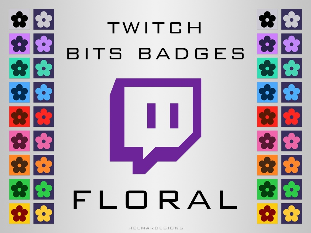 Twitch Bits Badges - Floral