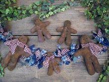 #457 Prim Gingerbread Man e pattern