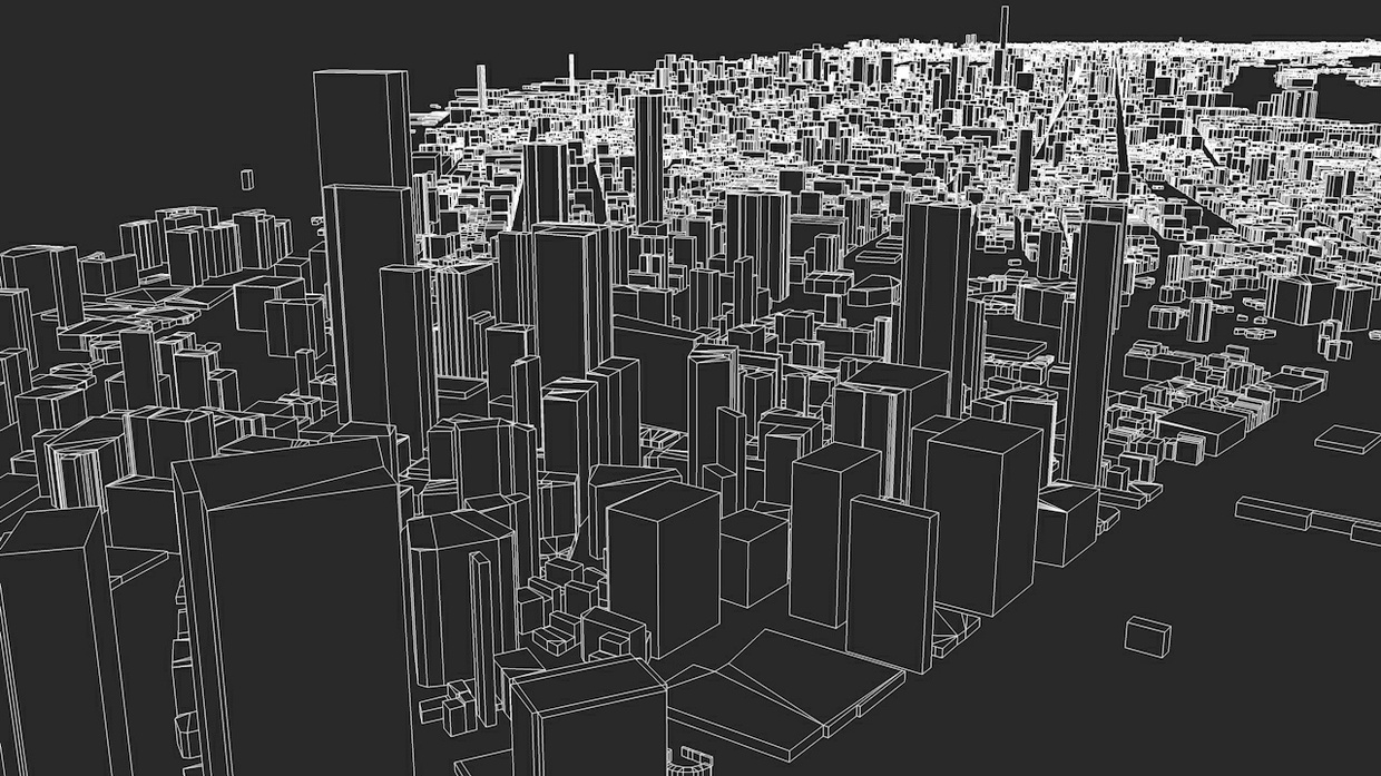 New York City 5 Boroughs Streets and Buildings Architectural 3D Model