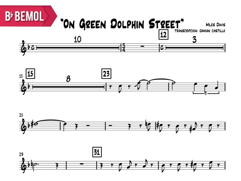 "Miles Davis- ""On Green Dolphin Street"" - Bb"