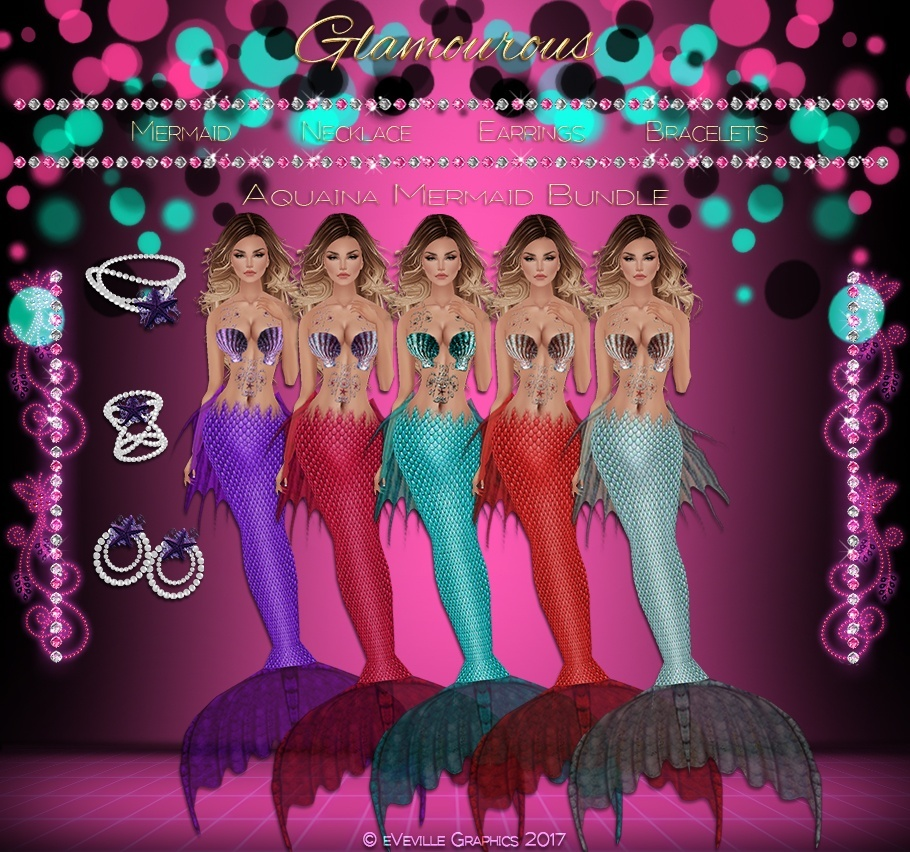 Aquaina Mermaid Collection- AVAILABLE IN 5 COLORS **CATALOG ONLY**