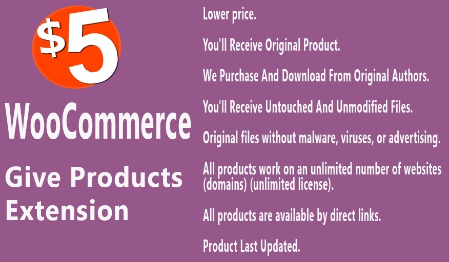 WooCommerce Give Products Extension