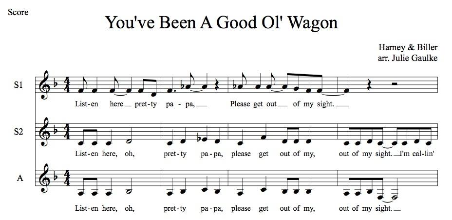 You've Been A Good Ol' Wagon MP3 Audio Learning Tracks SSA arr. Julie Gaulke