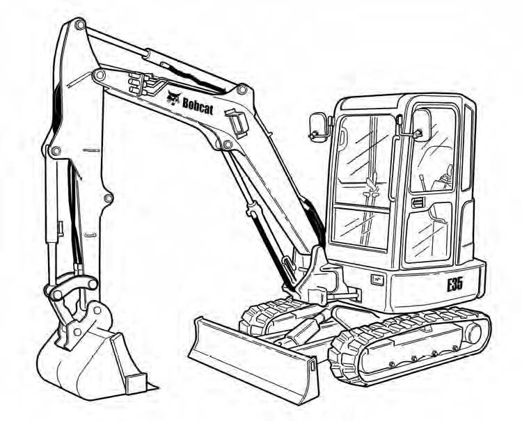 Bobcat E35 Compact Excavator Service Repair Manual Download(S/N A93K11001 & Above...)