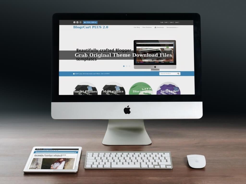 BlogrCart PLUS (PRO v2) - E-Commerce Inspired Pre-Made Templates for Blogger/Blogspot