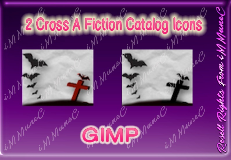2 Cross A Fiction Catalog Icons GIMP (Halloween)