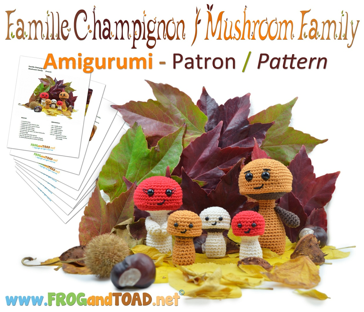 Famille Champignon - Mushroom Family - FROGandTOAD Créations ©