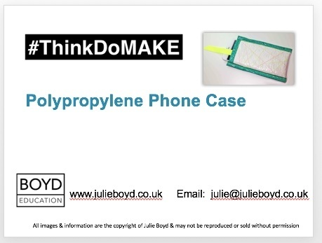 How to make a phone case made from a polypropylene rubble sack