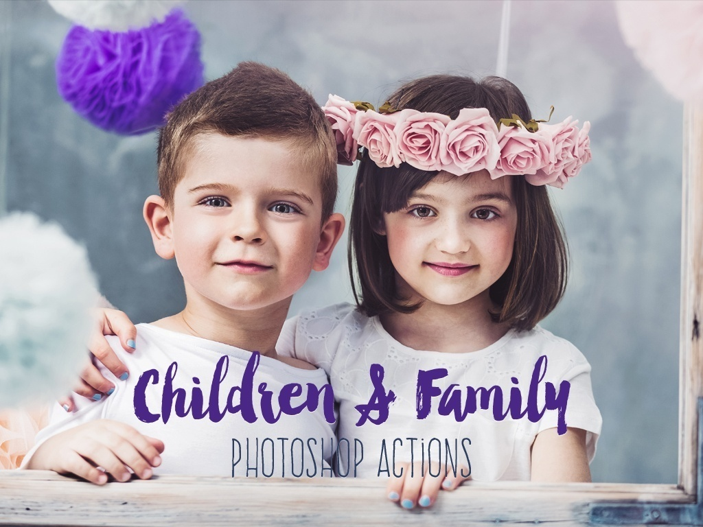 Family and Children Photoshop Actions