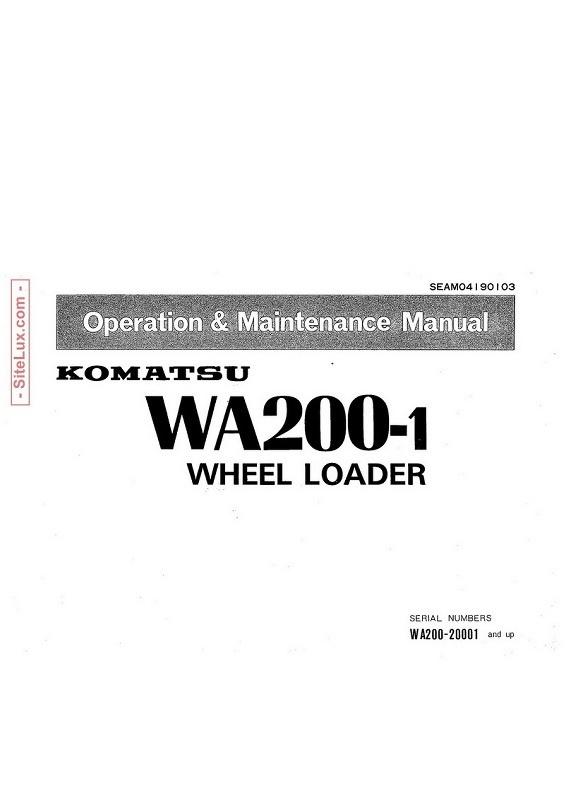 Komatsu WA200-1 Wheel Loader Operation & Maintenance Manual - SEAM04190103