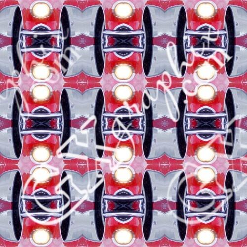 Tiled Red Corvette