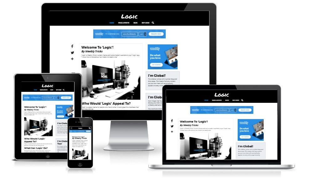 Logic Weebly Theme