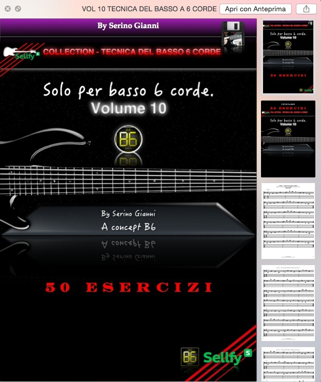 COLLECTION - TECNICA DEL BASSO A 6 CORDE - VOL 9,10,11,12 CONTROLLO  - FORMAT GP6 & PDF