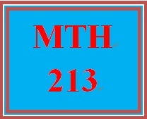 MTH 213 Week 5 Weekly Objectives and Standards
