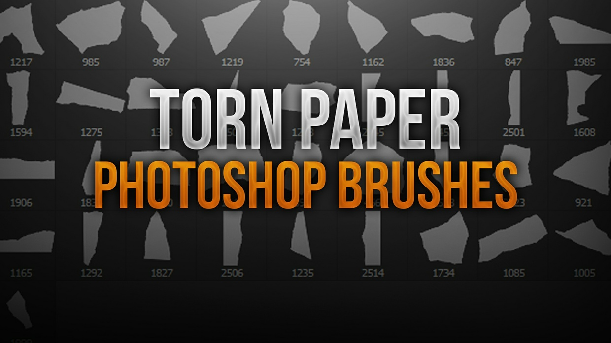 Torn Paper Photoshop Brush Pack