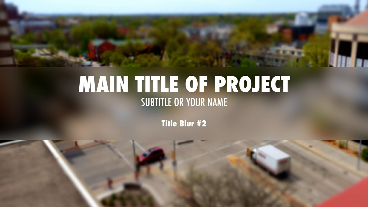 AV-Ultra Center Blur Title Templates for FCPX and Motion