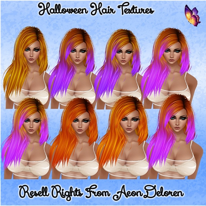 Halloween Hair Textures Catty Only!!!