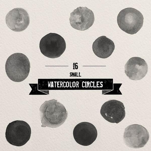 photoshop brushes - watercolor circles