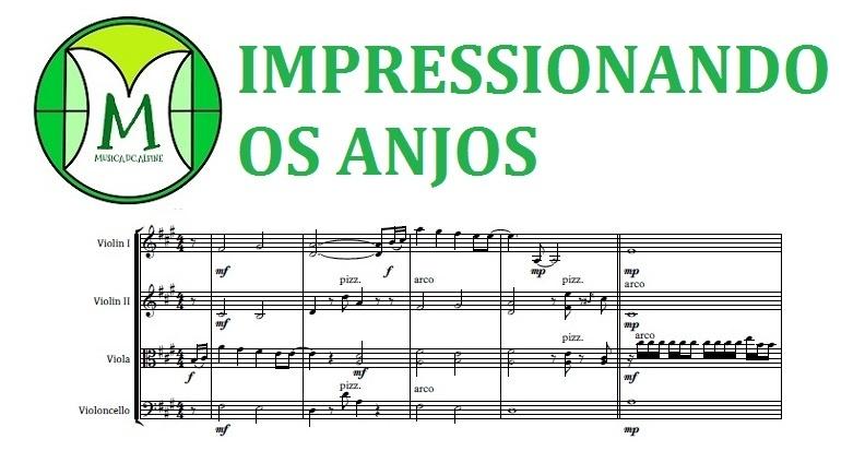 Impressionando os Anjos | Gustavo Mioto | Quarteto de Cordas | Partitura Completa