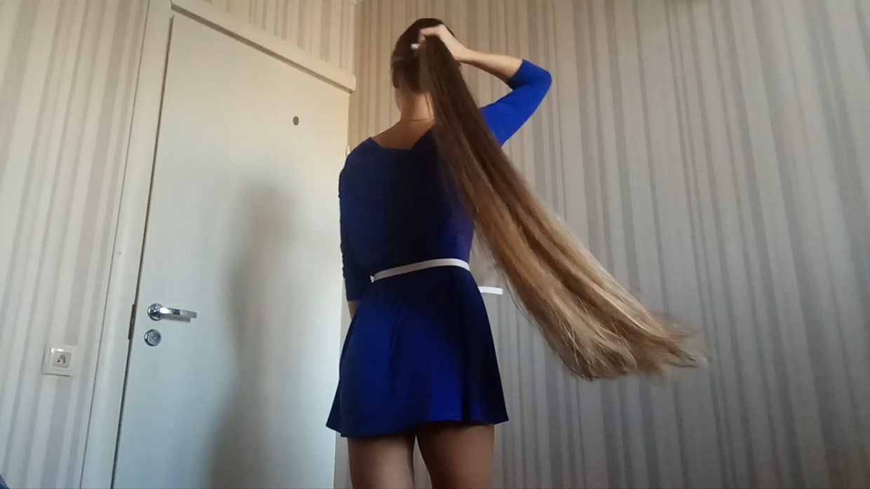 Thigh Length Hair Play by the Bed